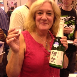 Shirley suitably impressed with Dassai's sparkling sake!